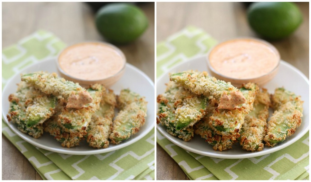 Avocado Fries Before and After