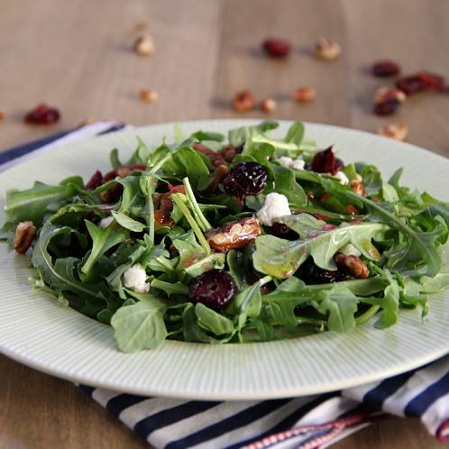 Cranberry Pecan Salad with Cranberry Vinaigrette