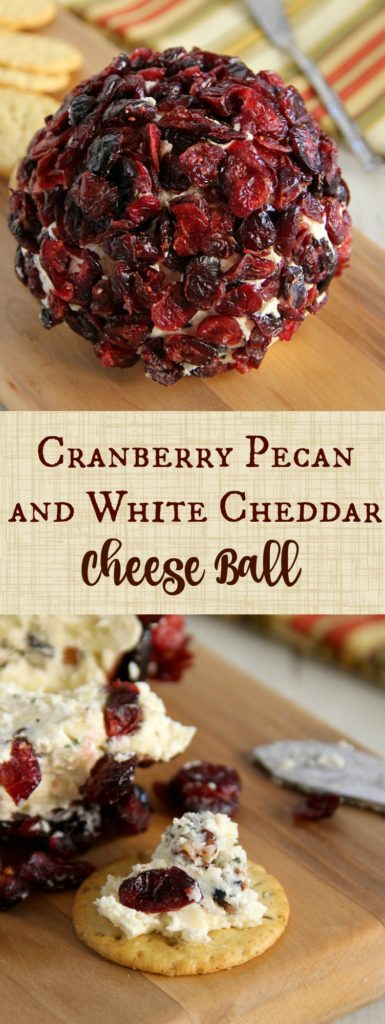 Cranberry Pecan and White Cheddar Cheese Ball