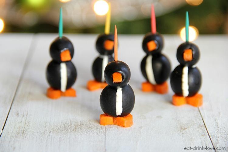 Olive & Cream Cheese Penguins