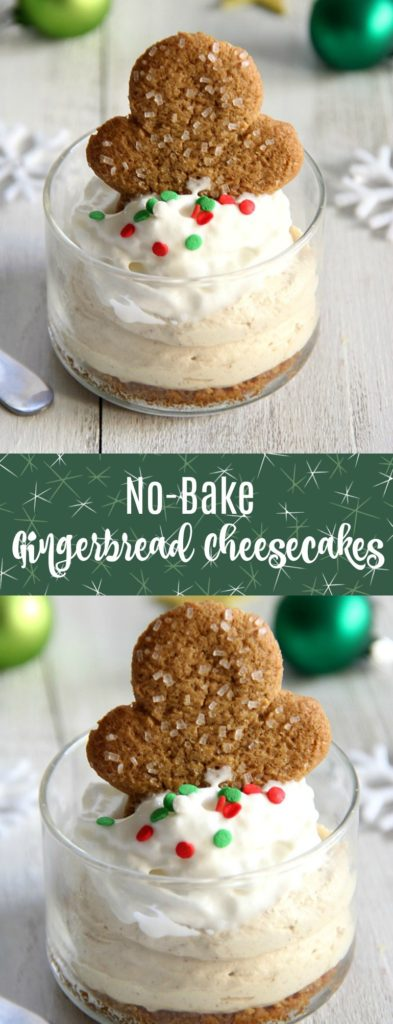 No-Bake Gingerbread Cheesecakes