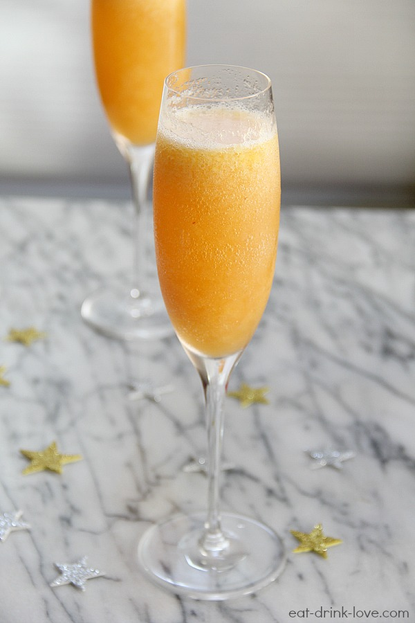 Peach Bellinis - Eat. Drink. Love.