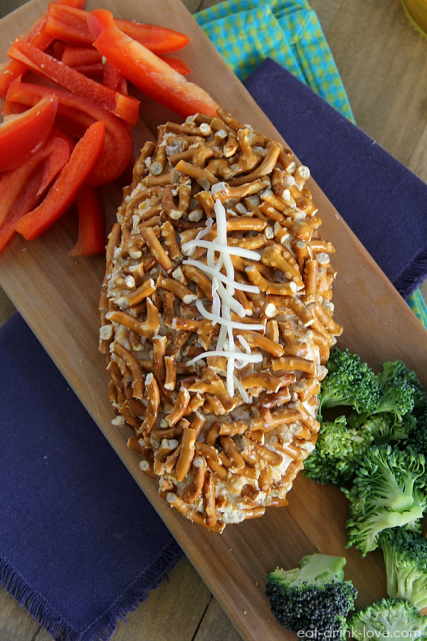 Pretzel-Crusted Cheddar Bacon Ale Cheese Ball