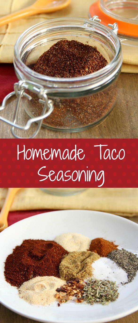 Homemade Taco Seasoning Collage