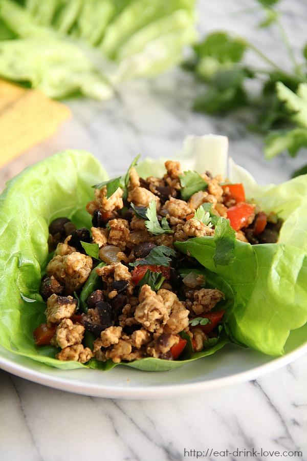 Southwestern Chicken Lettuce Wraps
