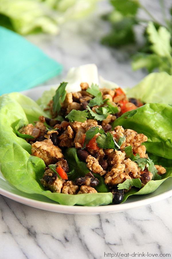 Southwestern Chicken Lettuce Wraps - Eat. Drink. Love.