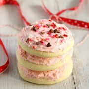 Sugar Cookies with Vanilla Bean Frosting 3 square