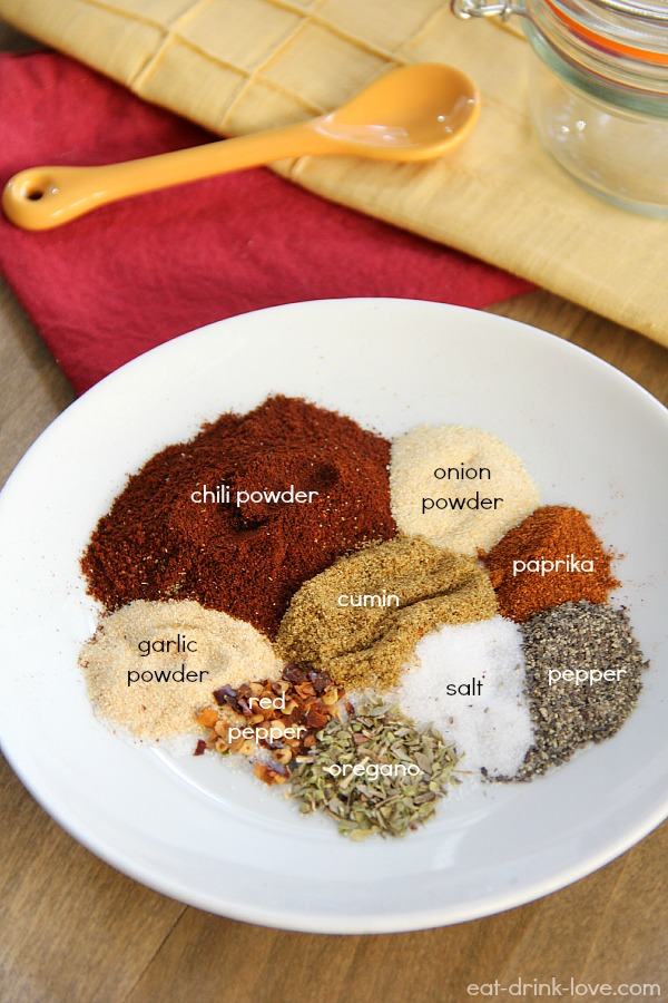 Homemade Taco Seasoning spices on a plate