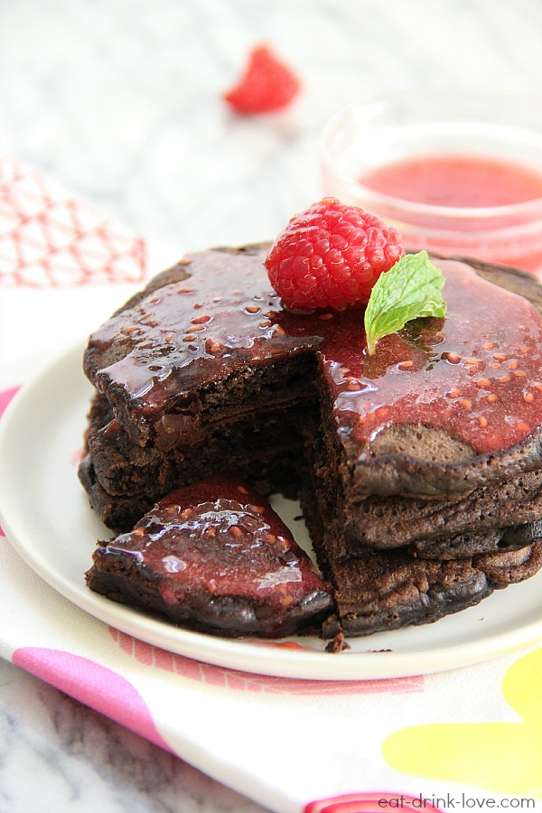 Dark Chocolate Pancakes