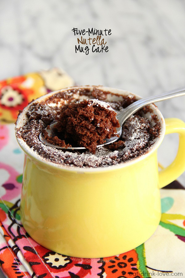 Five-Minute Nutella Mug Cake