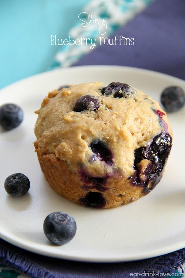 Skinny Blueberry Muffins