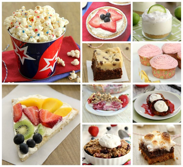 4th of July Recipe Roundup, Desserts