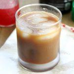 Raspberry Iced Coffee in a glass