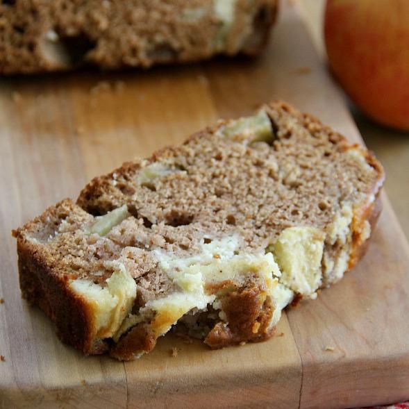 Apple Cinnamon Cream Cheese Bread