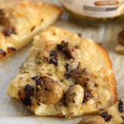 Mushroom Gruyere and Caramelized Onion Flatbread