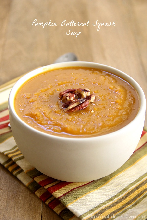 Roasted Butternut Squash and Pumpkin Soup