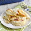 Cheddar and Gruyère Scalloped Potatoes Gratin