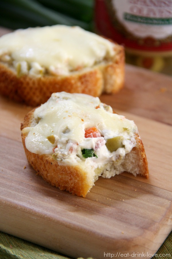 Cheesy Olive Toasts