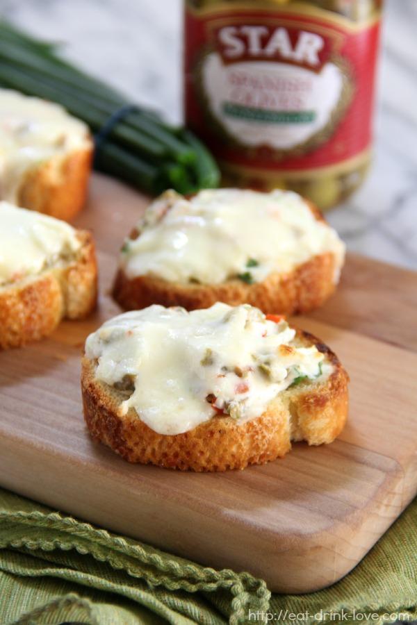 Cheesy Olive Toasts