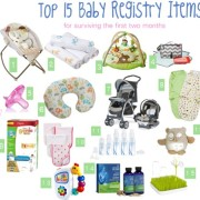 Top 15 Baby Registry Items and other Baby Essentials for Surviving the first few months
