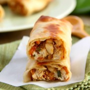 Baked Thai Chicken Egg Rolls