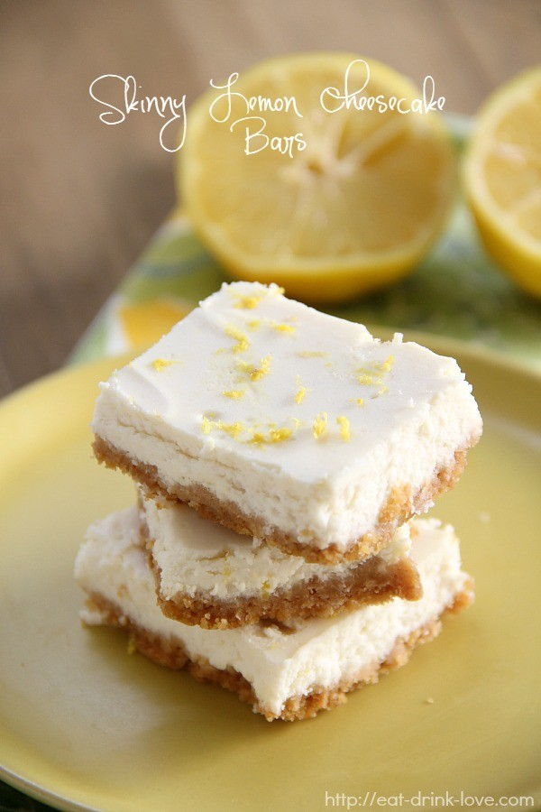 Skinny Lemon Cheesecake Bars