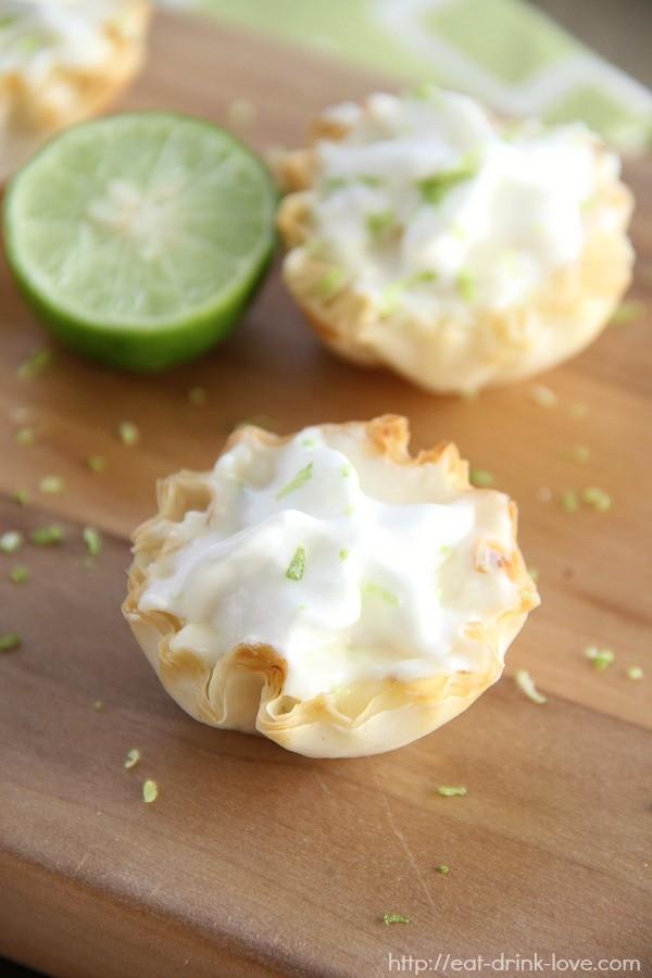 No-Bake Key Lime Pies