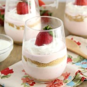 Strawberry Yogurt Cheesecake Parfaits