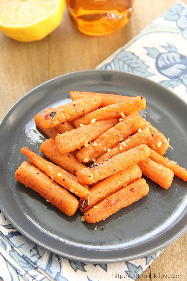 Honey Lemon Roasted Carrots