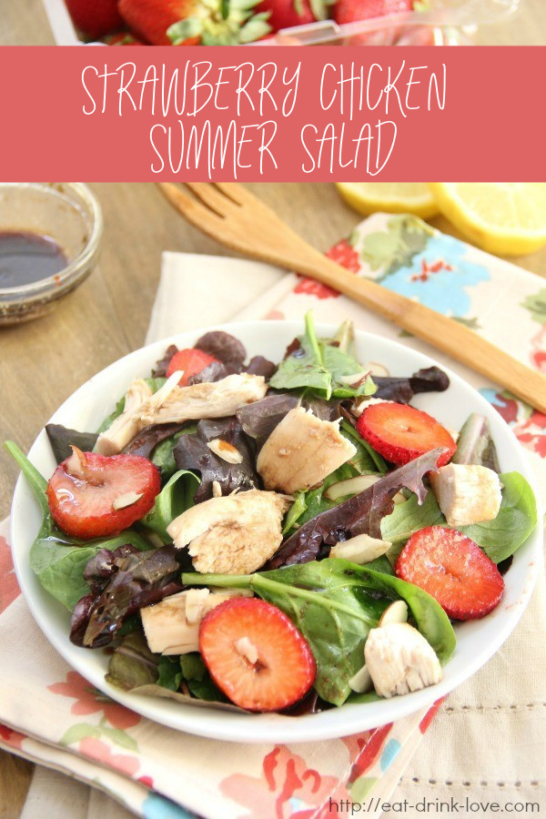 Strawberry Chicken Summer Salad
