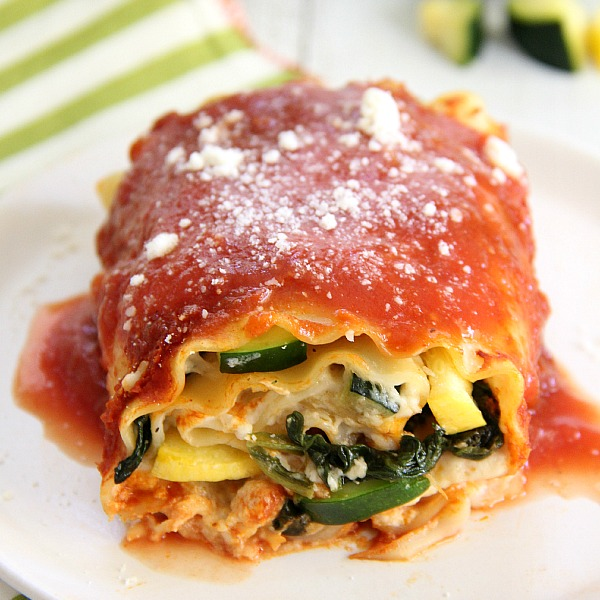 Creamy Vegetable Lasagna Rolls