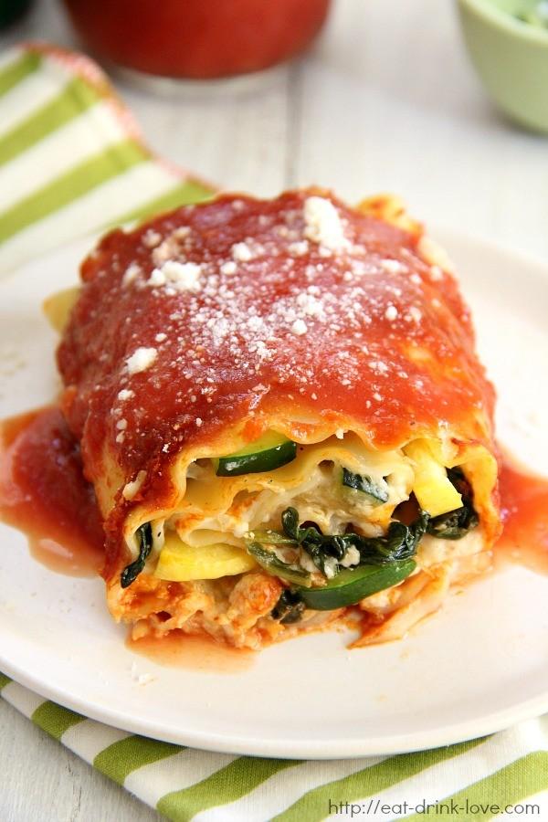 Creamy Vegetable Lasagna Rolls