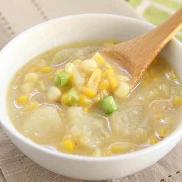 Summer Corn and Potato Soup
