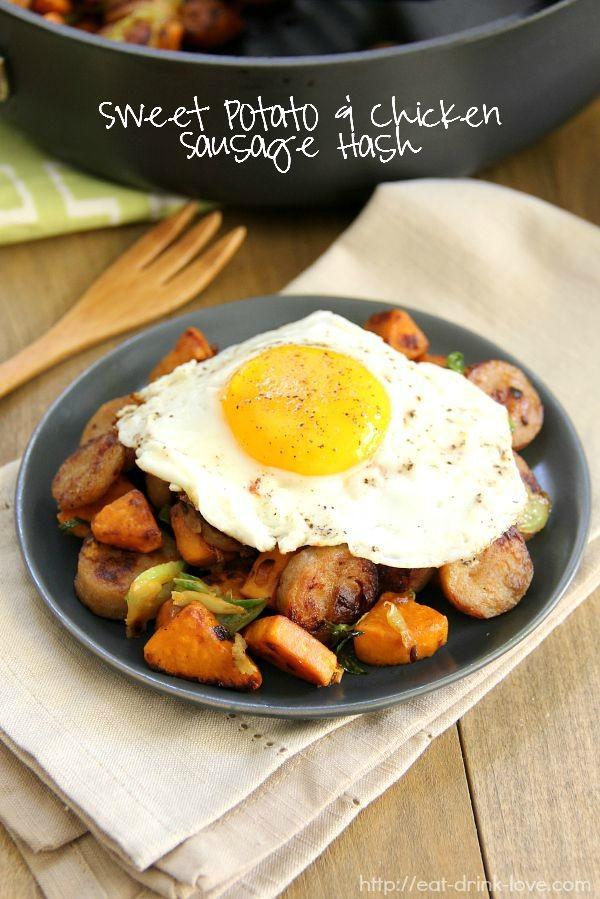 Sweet Potato & Chicken Sausage Hash