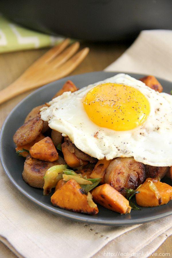 Sweet Potato & Chicken Sausage Hash - Eat. Drink. Love.