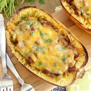 Chili Stuffed Spaghetti Squash