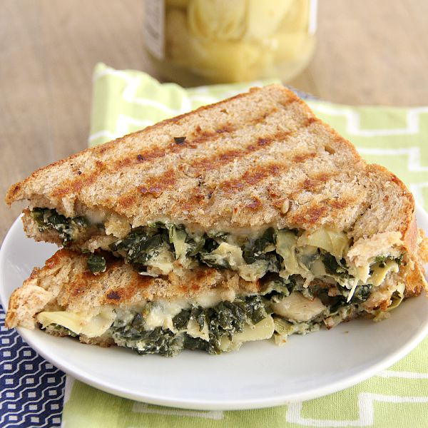 Spinach Aritchoke Grilled Cheese