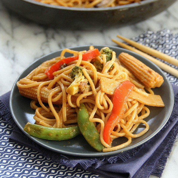 Vegetable Lo Mein - Eat. Drink. Love.