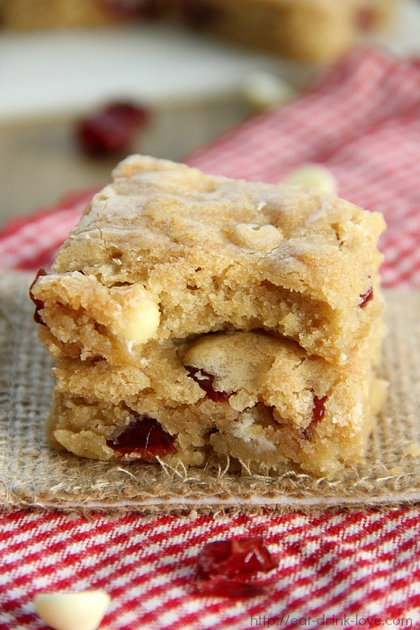 Cranberry White Chip Blondies