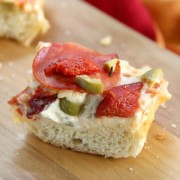 Olive & Pepper French Bread Pizza