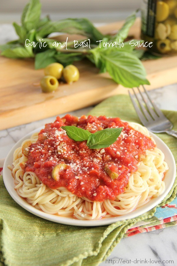 Garlic and Basil Tomato Sauce