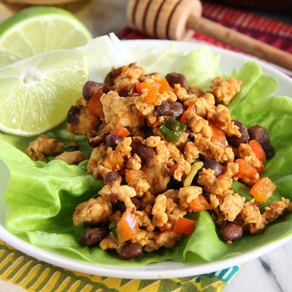 Honey Chipotle Chicken Lettuce Wraps