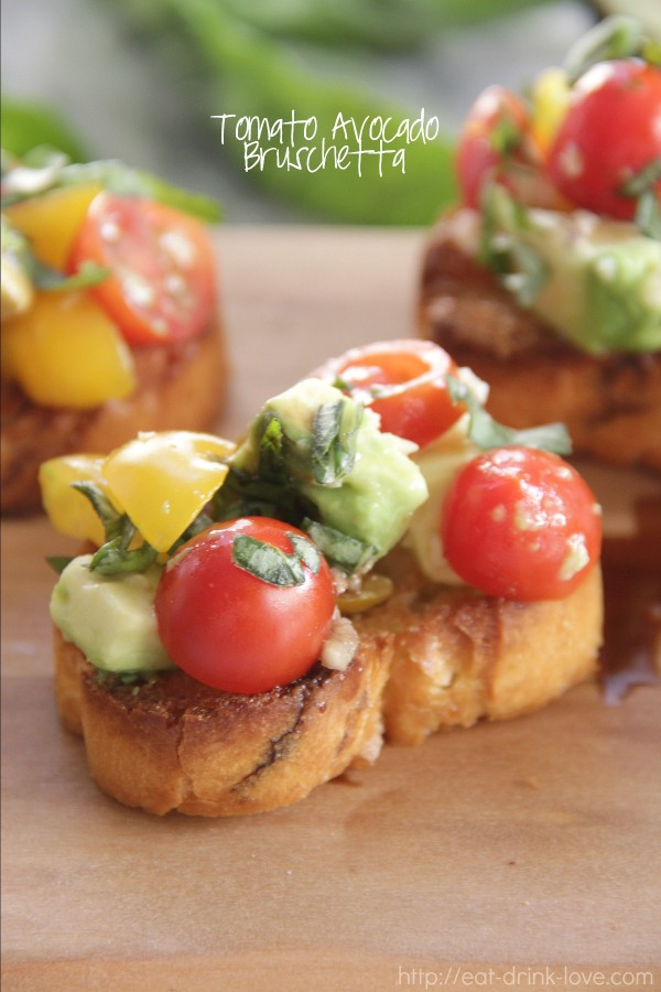 Tomato Avocado Bruschetta