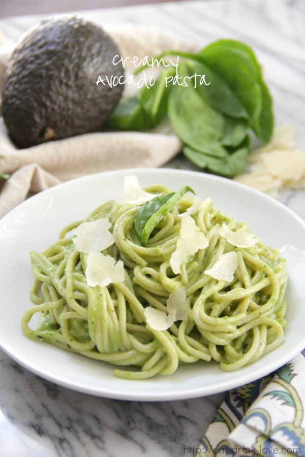 Creamy Avocado Pasta - Eat. Drink. Love.