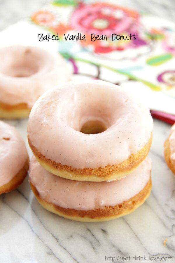 Baked Vanilla Bean Donuts, Doughnuts