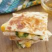 Chicken, Peach, and Arugula Quesadillas