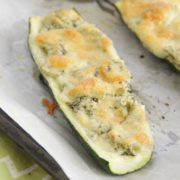 Spinach Artichoke Zucchini Boats