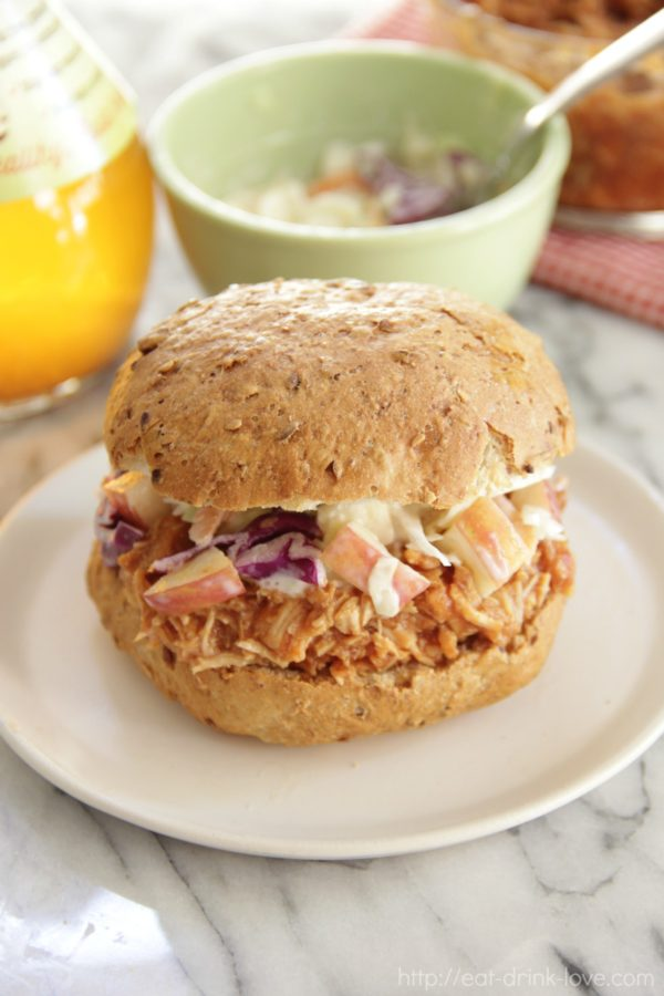 Slow Cooker Hoisin Chicken And Slaw Sandwiches Recipe ...