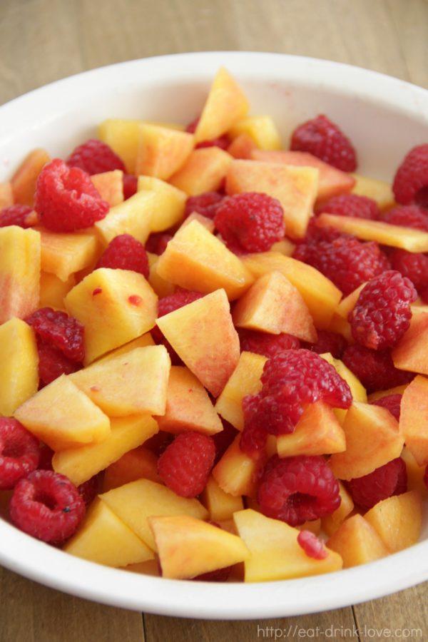 Raspberry Peach Crisp