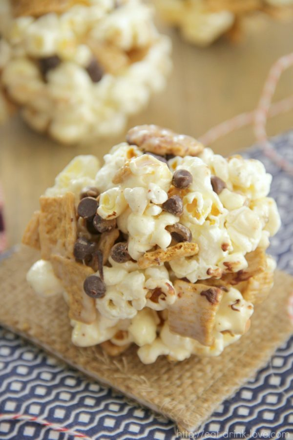 S'mores Popcorn Balls